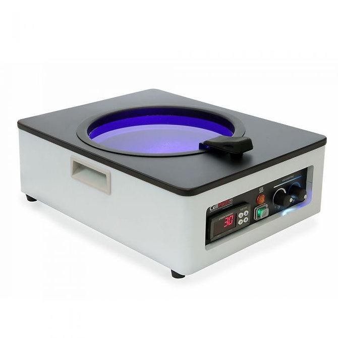 Digitális vízfürdő, kék és fehér LED megvilágítású, 295 x 370 x 135 mm, 90 mm tartálymélység