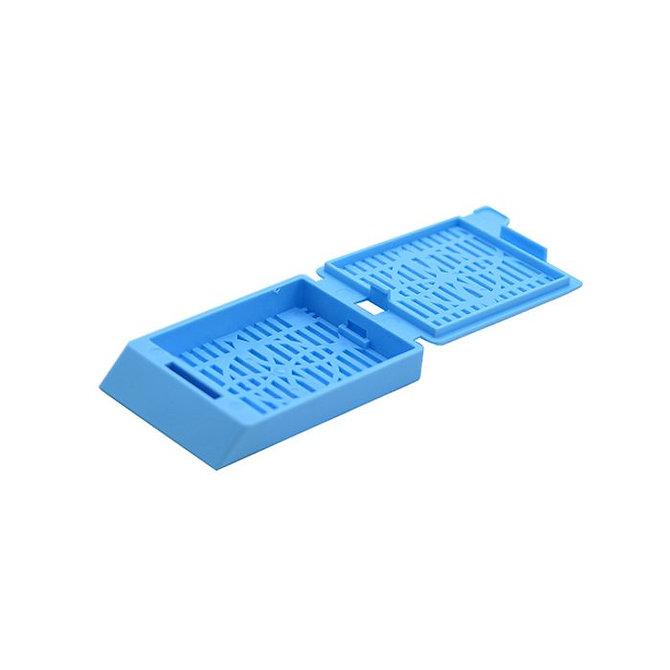 SYSTEM III Beágyazó kazetta - réses  perforációval - kék (ömlesztett csomagolás,  hőnyomtatásra)