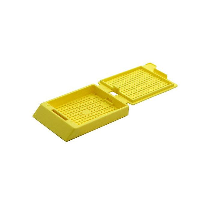 SYSTEM III biopsziás beágyazó kazetta - sárga (ömlesztett csomagolás,  hőnyomtatásra)