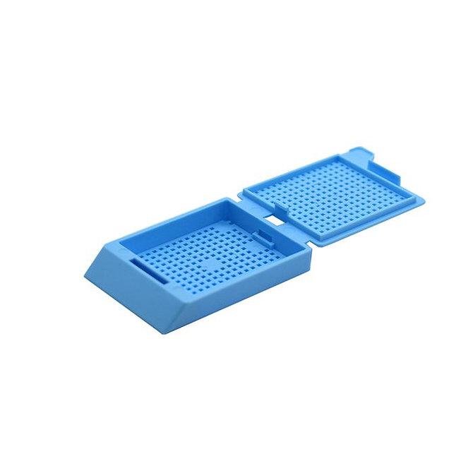SYSTEM III biopsziás beágyazó kazetta - kék (ömlesztett csomagolás,  hőnyomtatásra)