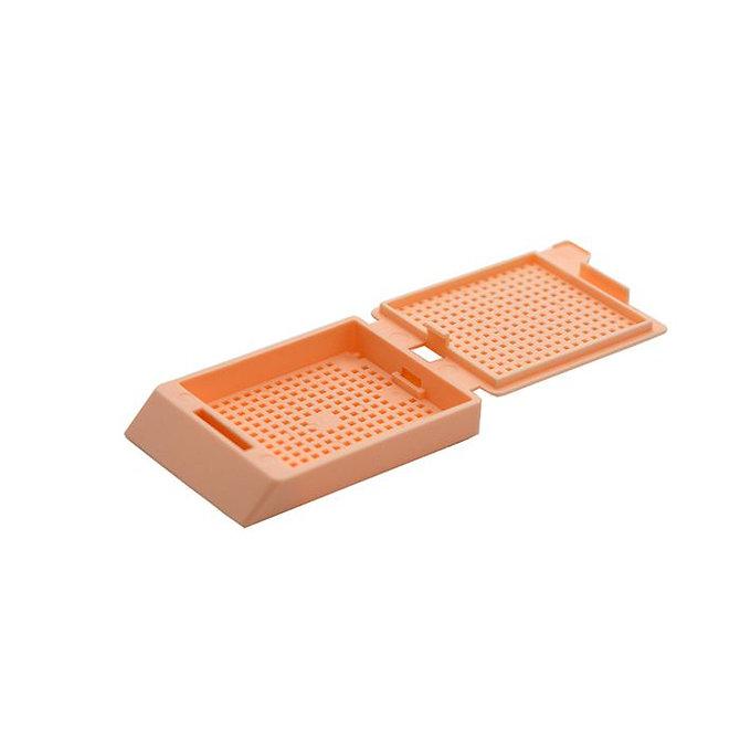 SYSTEM III biopsziás beágyazó kazetta - barack (fűzött csomagolás, hőnyomtatásra)