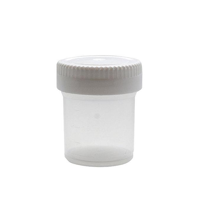 CELLSTOR Minta tároló edény fedéllel 20 ml, Fehér