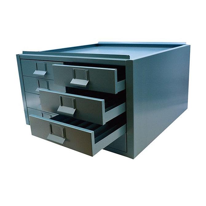 Nyolcfiókos blokk tároló szekrény - kék