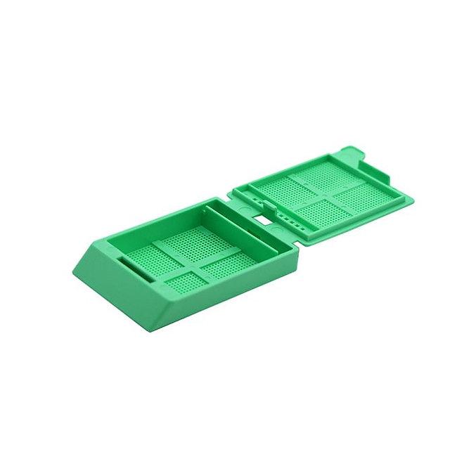 SYSTEM III mikrobiopsziás beágyazó kazetta - zöld (fűzött csomagolás, tintasugaras nyomtatásra)