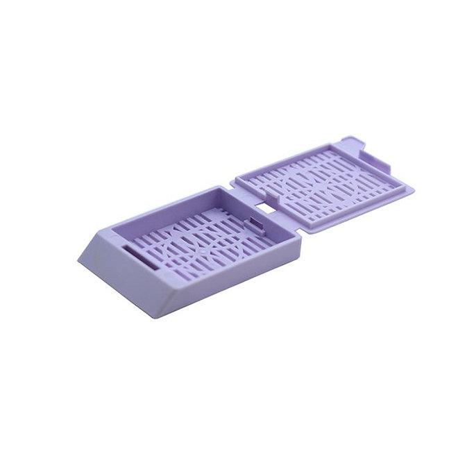 SYSTEM III Beágyazó kazetta - réses  perforációval - levendula (fűzött csomagolás, hőnyomtatásra)