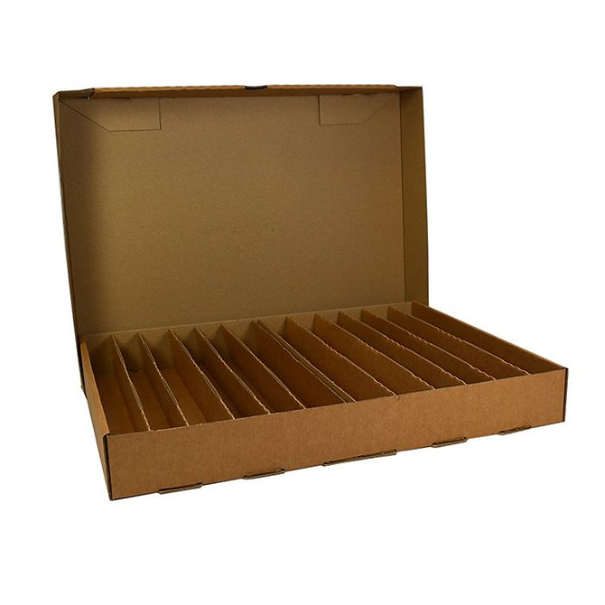 BLOCSTOR 12 tároló doboz 460 blokkhoz, 395 x 300 x 50 mm, összeállított