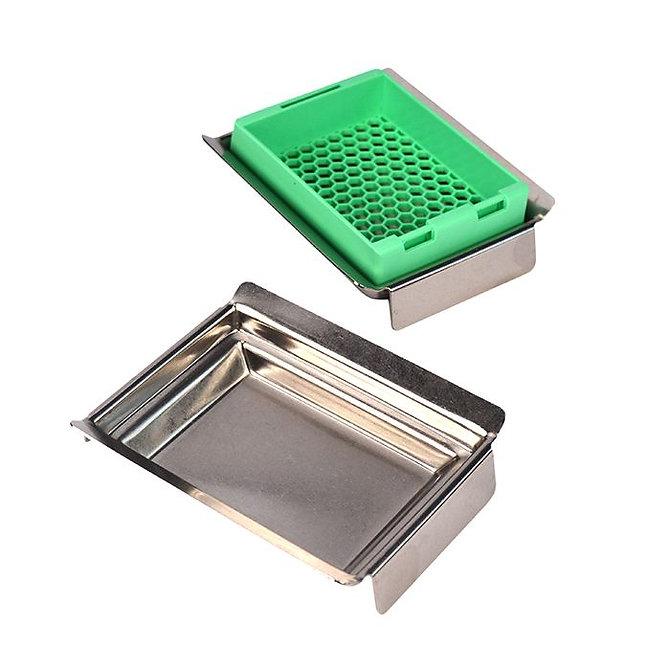 Rozsdamentes acél blokk kiöntő forma SUPA MEGA SLIM kazettához 60 x 45 x 8 mm