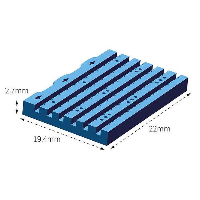 LUMEA BX metszhető biopsziás chip, 6 csatornás, 14G, kék, formalinnal, egyesével csomagolt