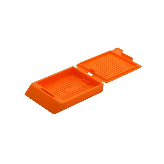 SYSTEM III biopsziás beágyazó kazetta - narancs (ömlesztett csomagolás,  hőnyomtatásra)