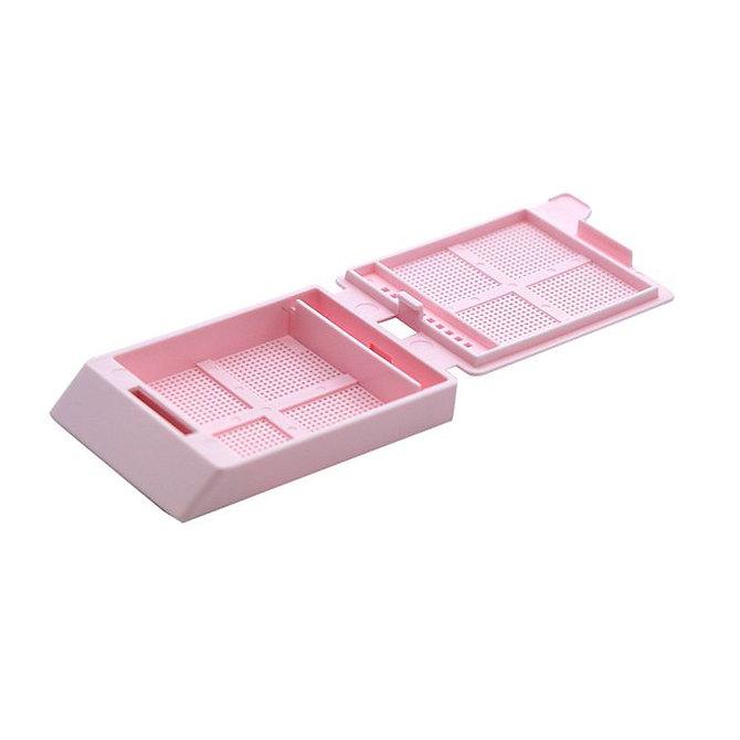 SYSTEM III mikrobiopsziás beágyazó kazetta - pink (fűzött csomagolás, hőnyomtatásra)