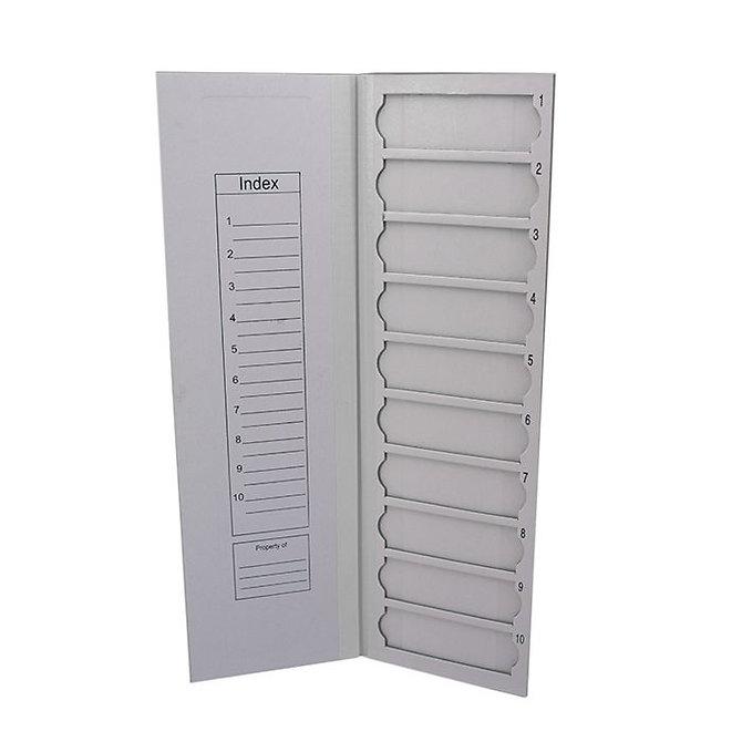 FILOSLIDE Kartonpapír  tárgylemez téka 10 tárgylemezhez - Fehér