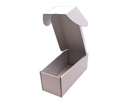 Koporsó doboz, fehér kartonpapír, lapra csomagolt