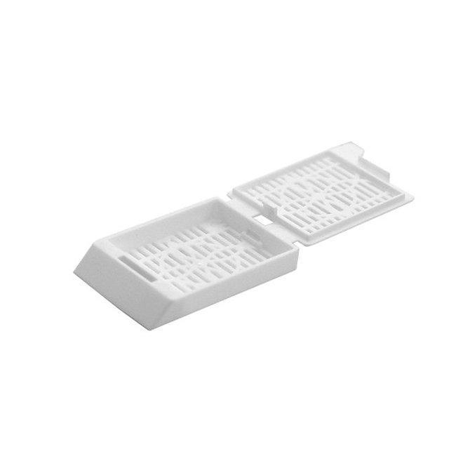 SYSTEM III Beágyazó kazetta - réses  perforációval - fehér (ömlesztett csomagolás, tintasugaras nyomtatásra)