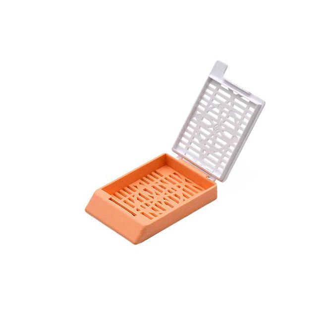 SYSTEM II+ beágyazó kazetta réses perforációval - barack + fedél (fűzött csomagolás)