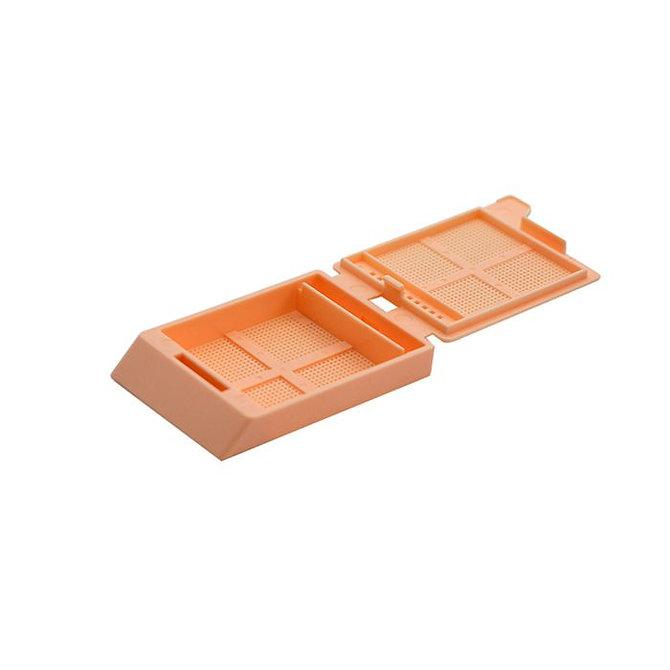 SYSTEM III mikrobiopsziás beágyazó kazetta - barack (ömlesztett csomagolás, tintasugaras nyomtatásra)