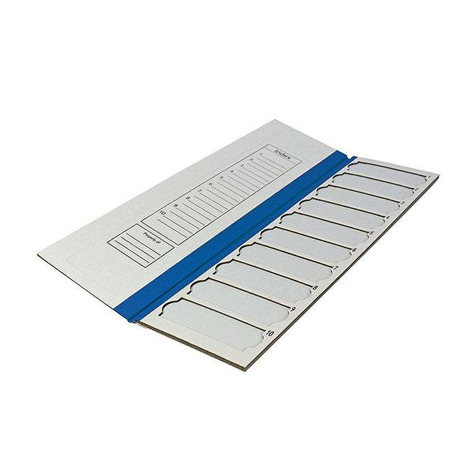 FILOSLIDE Kartonpapír  tárgylemez téka 10 tárgylemezhez - Kék