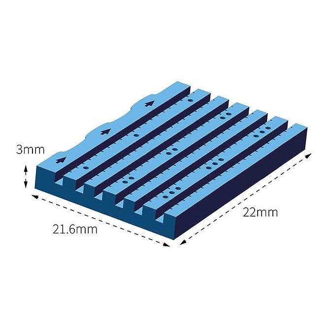 LUMEA BX metszhető biopsziás chip, 6 csatornás, 12G, kék, fiz. sóoldattal, egyesével csomagolt