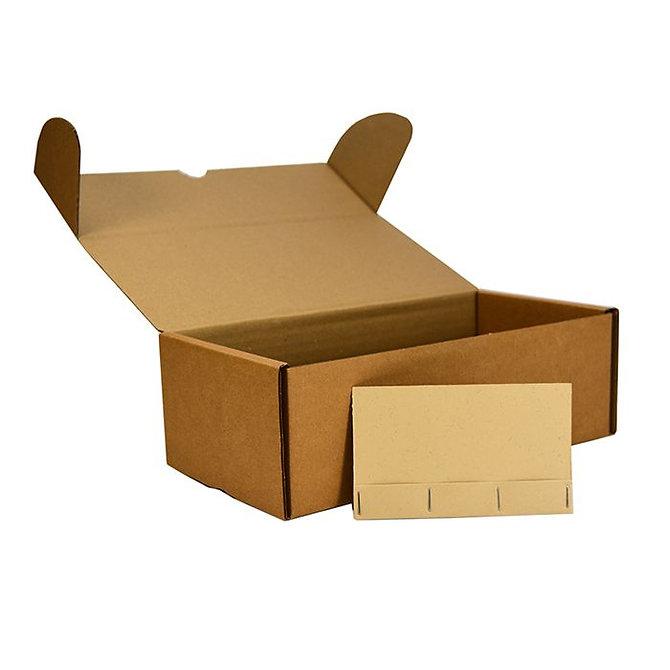 ECOSLIDE 3 kartonpapír tárgylemez tároló doboz + 100 db tárgylemez tartó zseb