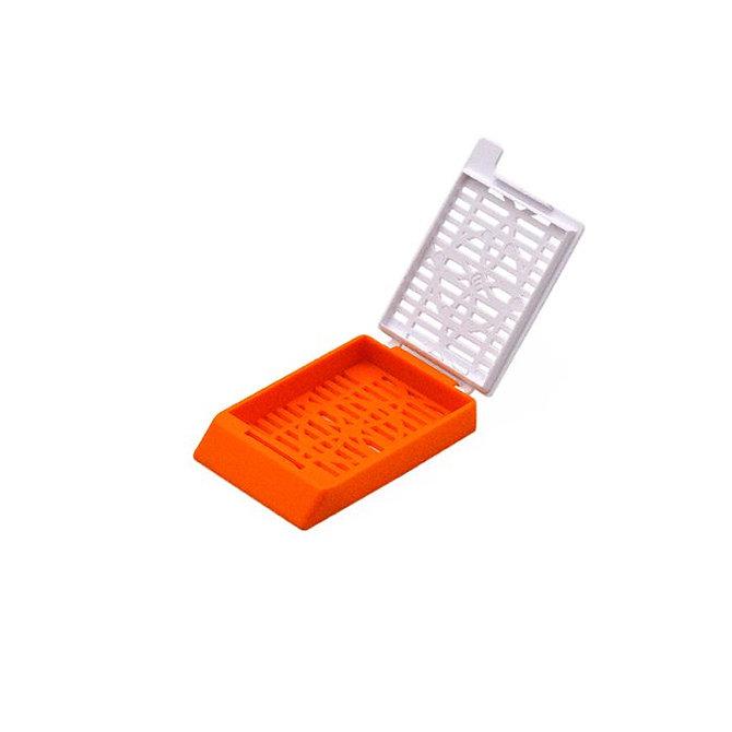 SYSTEM II+ beágyazó kazetta réses perforációval - narancs + fedél (fűzött csomagolás)