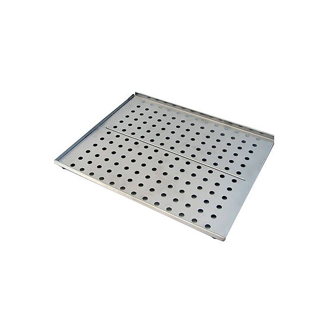 Perforált rozsdamentes acél polc 15 L-es űrtartalmú tárgylemez szárítóhoz