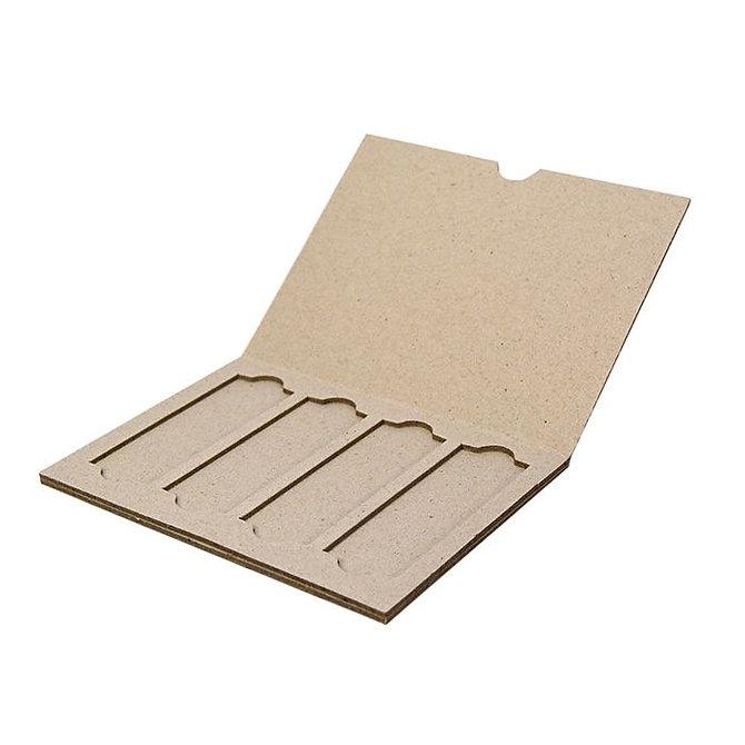 SLIDERITE 4 kartonpapír psotázó téka 4 db tárgylemezhez