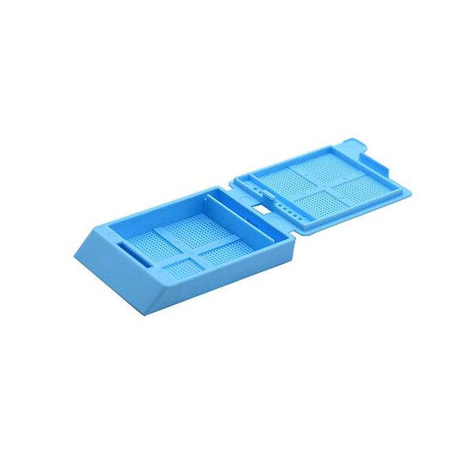 SYSTEM III mikrobiopsziás beágyazó kazetta - kék (fűzött csomagolás, hőnyomtatásra)