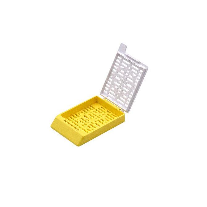 SYSTEM II+ beágyazó kazetta réses perforációval - sárga + fedél (ömlesztett csomagolás)
