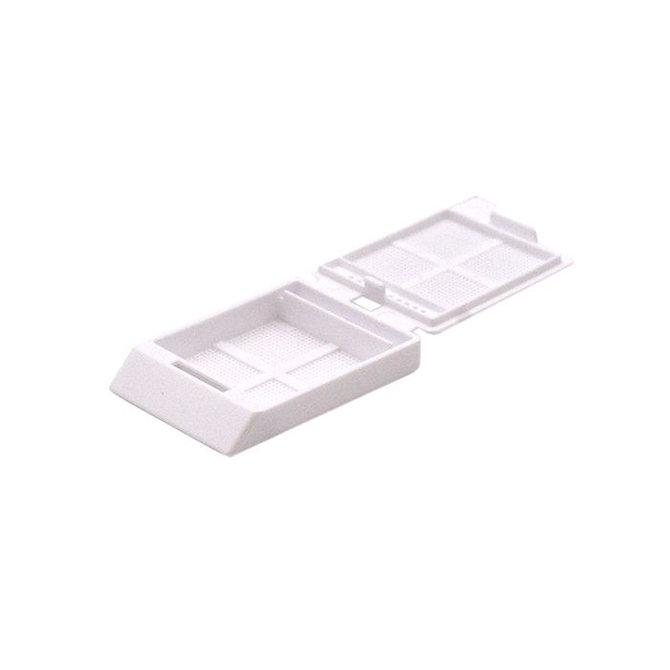 SYSTEM III mikrobiopsziás beágyazó kazetta - fehér (ömlesztett csomagolás,  hőnyomtatásra)