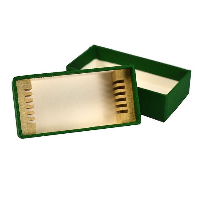 FILOSLIDE BOX tároló, postázó doboz 6 tárgylemezhez, textil borítású kartonapír