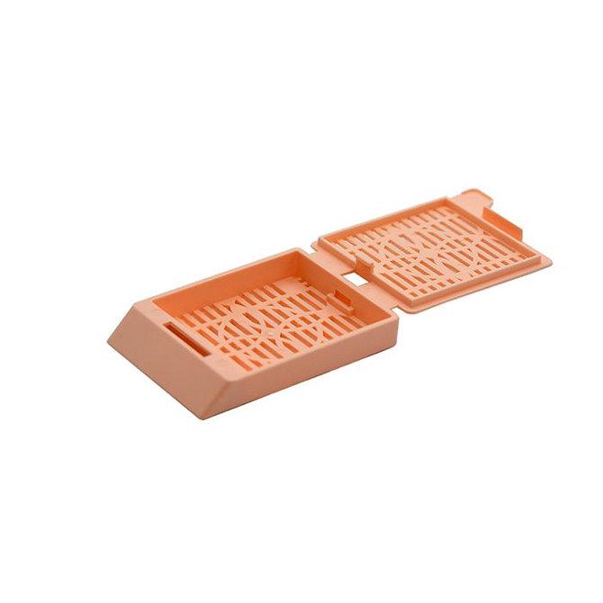 SYSTEM III Beágyazó kazetta - réses  perforációval - barack (ömlesztett csomagolás, tintasugaras nyomtatásra)