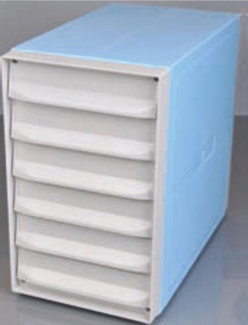 Hatfiókos blokk tároló szekrény - kék