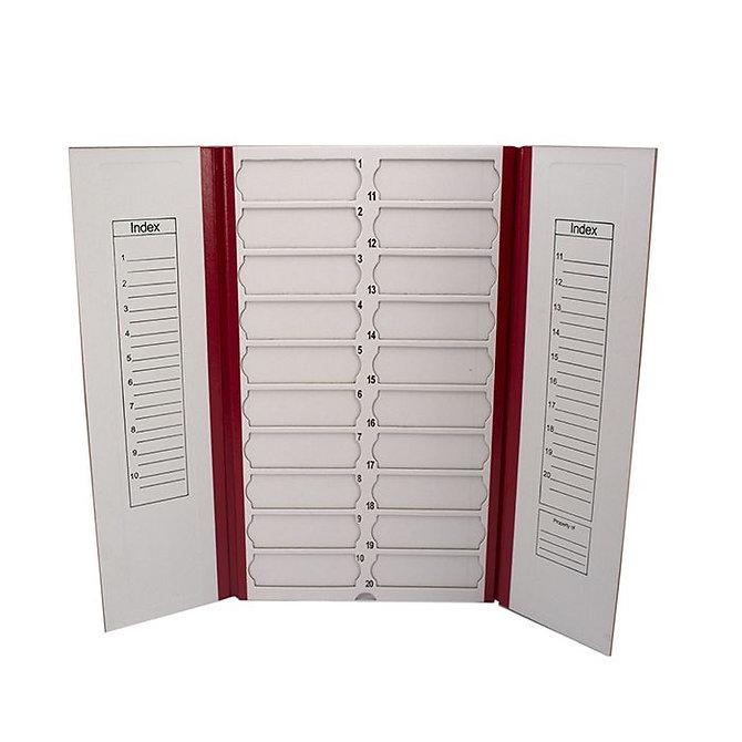FILOSLIDE Kartonpapír  tárgylemez téka 20 tárgylemezhez - Piros