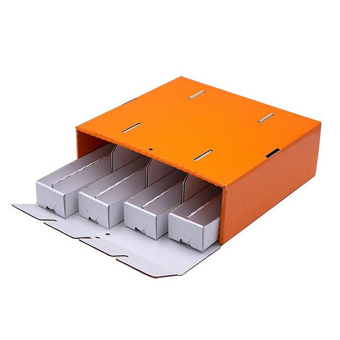 OMNISTOR 4 SUPERIOR narancssárga kartonpapír doboz