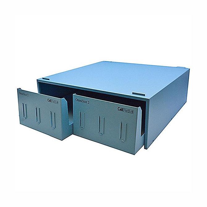 OMNISTOR 2 fiókos fém szekrény - kék