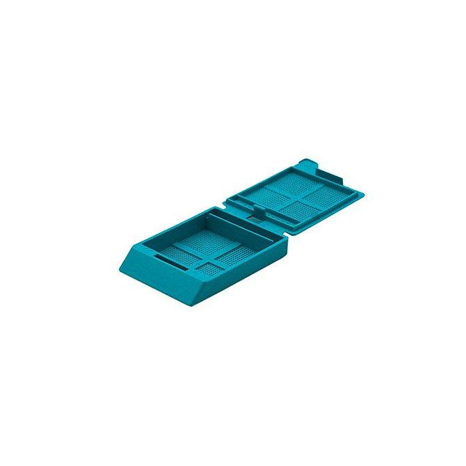 SYSTEM III mikrobiopsziás beágyazó kazetta - türkiz (ömlesztett csomagolás,  hőnyomtatásra)