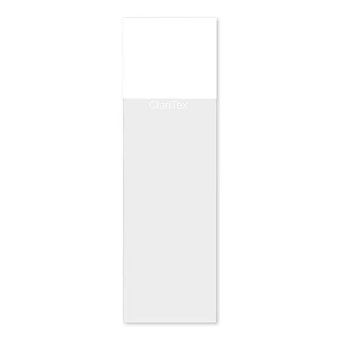 CLARITEX Colourcoat tárgylemez - fehér mattírozással