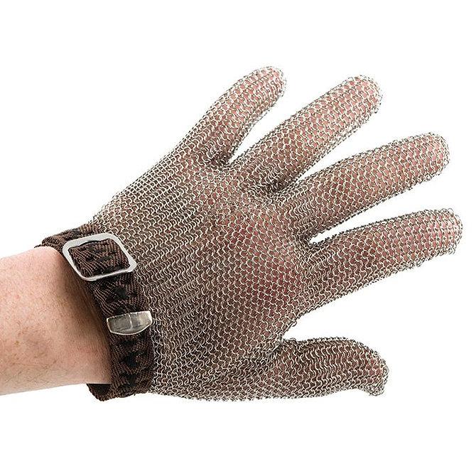 PROMESH munkavédelmi lánc kesztyű, rozsdamentes acél, barna jelzéssel, mindkét kézre alkalmas- Petite méret
