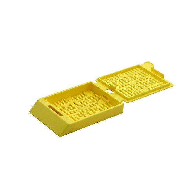 SYSTEM III Beágyazó kazetta - réses  perforációval - sárga (fűzött csomagolás, tintasugaras nyomtatásra)