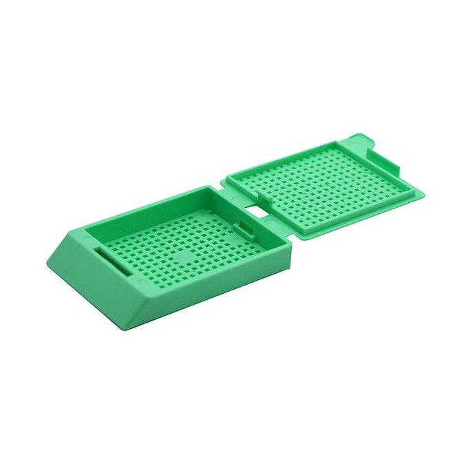 SYSTEM III biopsziás beágyazó kazetta - zöld (fűzött csomagolás, hőnyomtatásra)