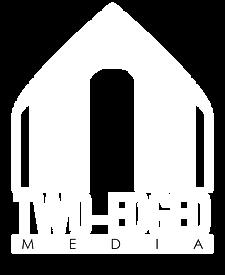 Two-Edged Media White Logo