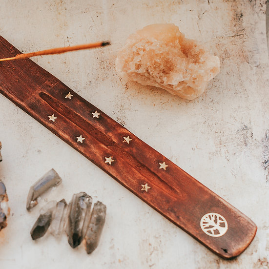 TREE OF LIFE WOODEN INCENSE HOLDER
