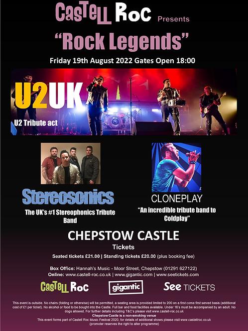 """Rock Legends"" - U2UK, Cloneplay & Stereosonics - 19/08/2022"