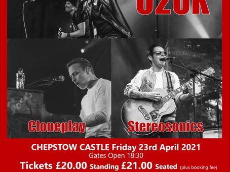 """""""Rock Legends"""" - U2UK, Cloneplay, Stereosonics - 23/04/2021 SPECIAL SPRINGTIME EVENT"""
