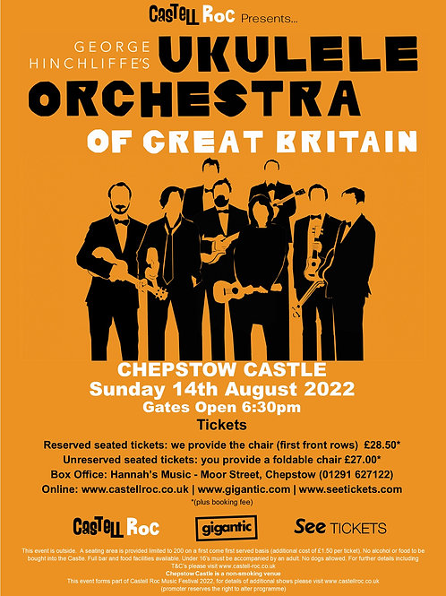 George Hinchliffe's - Ukulele Orchestra of Great Britain - 14/08/2022 19:30