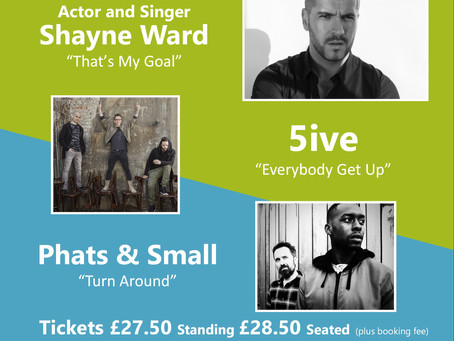 """90's to the 00's"" - Shayne Ward, 5ive, Phats & Small - 25/04/2021 SPECIAL SPRINGTIME EVENT"