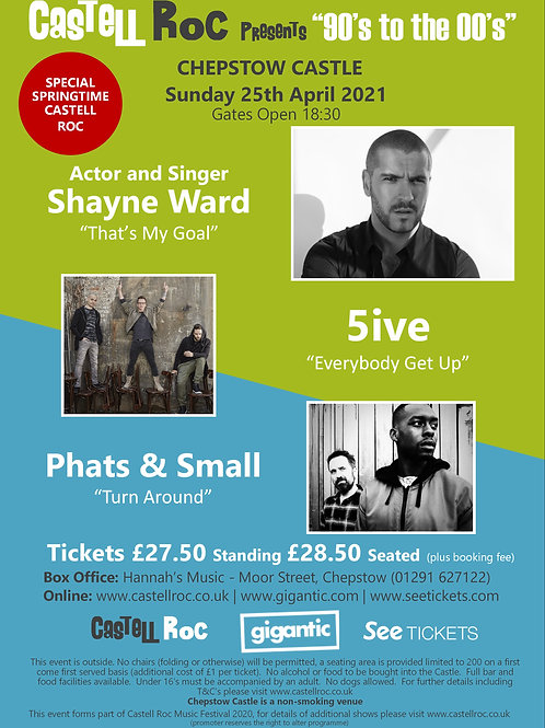 """""""90's to the 00's"""" - Shayne Ward, 5ive, Phats & Small - 25/04/2021 19:30"""