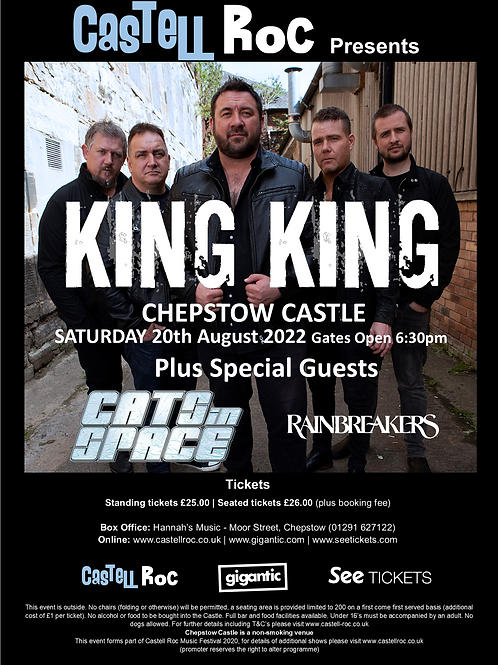 King King supported by Cats in Space - 20/08/2022 19:30