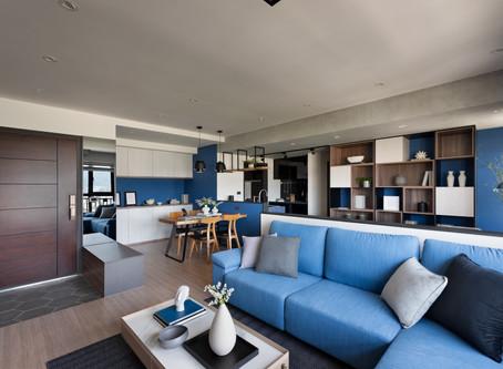 經典藍調 層次變化│新北泰山 室內設計 揚楊設計