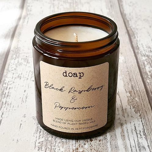 Black Raspberry & Peppercorn Vegan Soy Wax Candle 180g