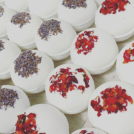 Our Aromatherapy Bath Bombs are made wit
